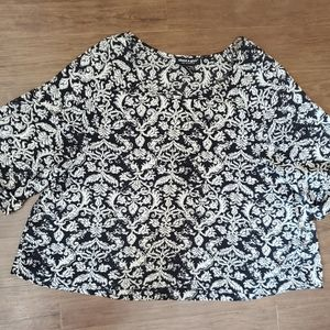 Black & White Printed Blouse